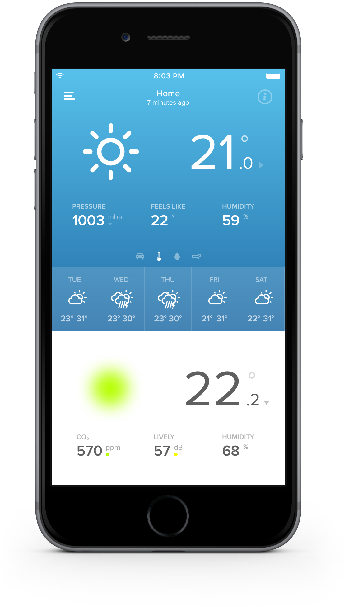Application for Netatmo Weather station